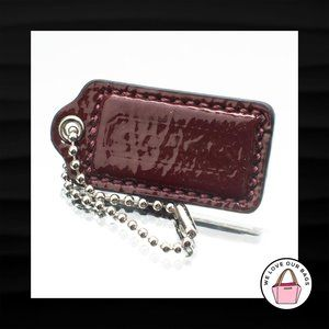 2″ Medium COACH BURGUNDY MAROON PATENT LEATHER FOB